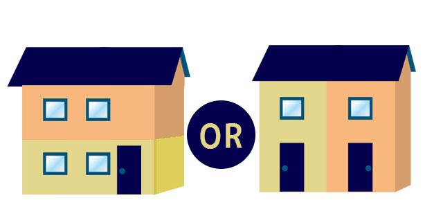 二世帯住宅分け目は縦か横か