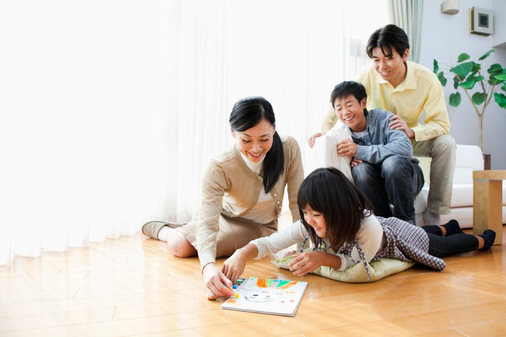 家族が集まるリビングプラン