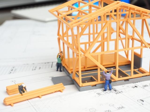 木造骨組みの模型